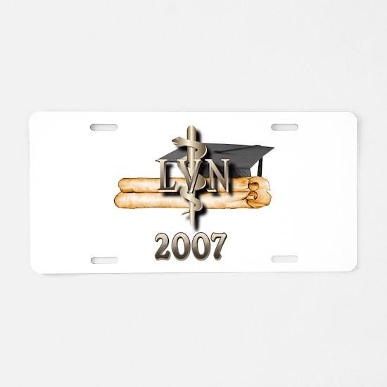 LVN Grad 2007 Aluminum License Plate