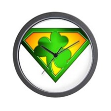 Super Shamrock Wall Clock