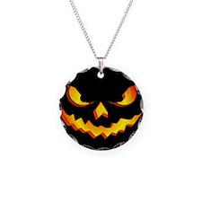 Halloween Pumpkin Face Necklace