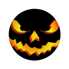 "Halloween Pumpkin Face 3.5"" Button (100 pack)"