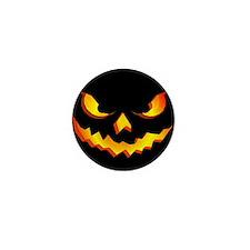 Halloween Pumpkin Face Mini Button