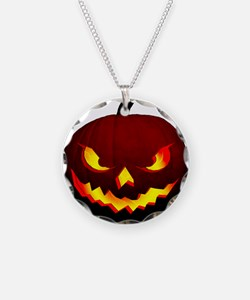 Scary Halloween Pumpkin Necklace
