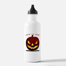 Scary Halloween Pumpkin Water Bottle