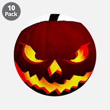 """Scary Halloween Pumpkin 3.5"""" Button (10 pack)"""