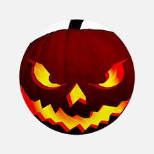 """Scary Halloween Pumpkin 3.5"""" Button"""