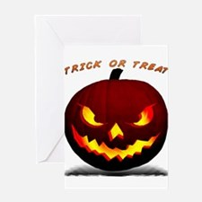 Scary Halloween Pumpkin Greeting Card