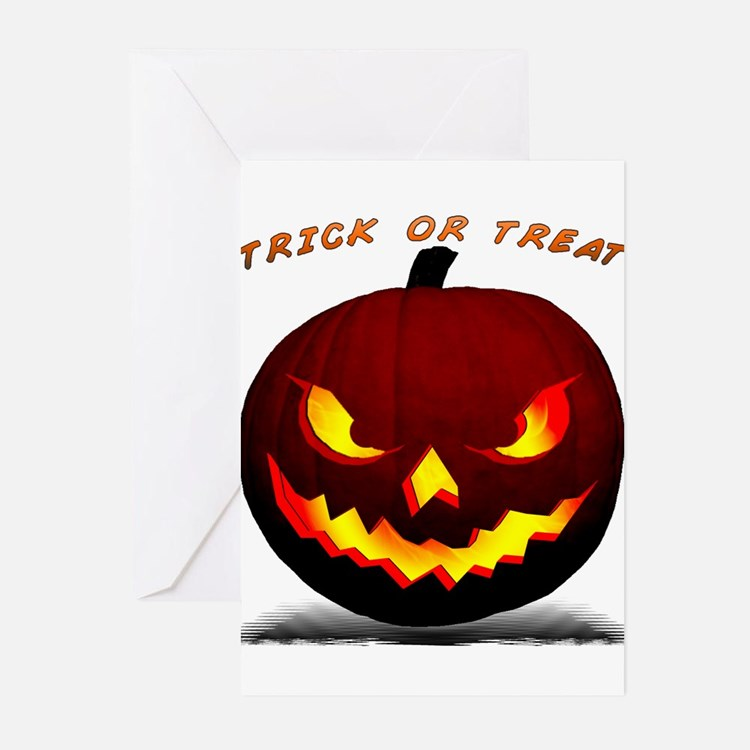 Scary Halloween Pumpkin Greeting Cards (Pk of 10)