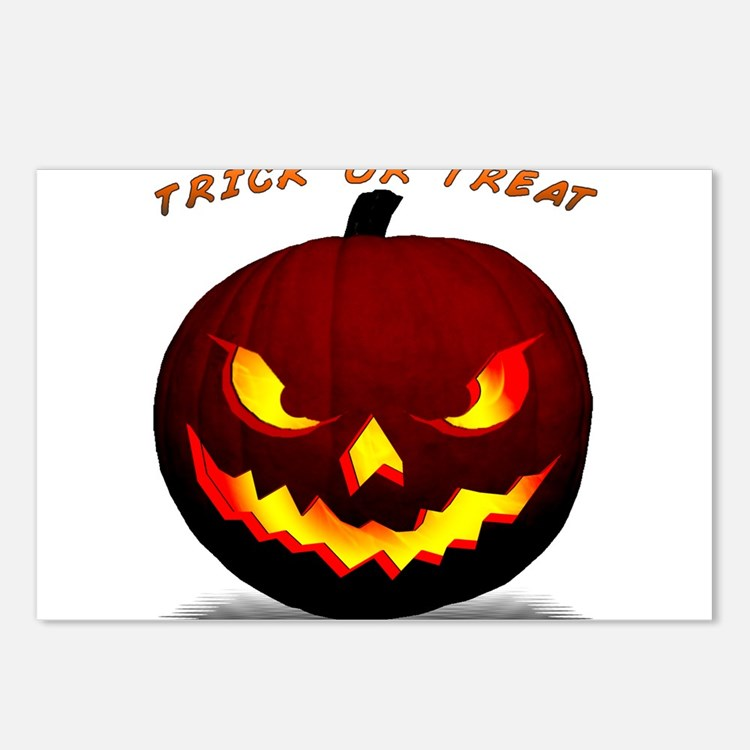 Scary Halloween Pumpkin Postcards (Package of 8)
