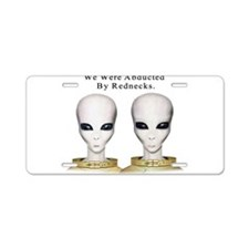 Alien Abduction Aluminum License Plate