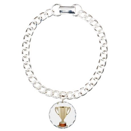 Trophy Wife Charm Bracelet, One Charm