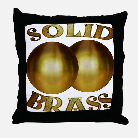 Cute Brass Throw Pillow