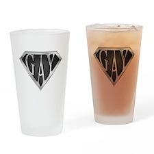 SuperGay(Metal) Drinking Glass