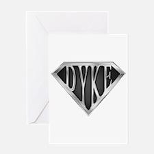 SuperDyke(metal) Greeting Card