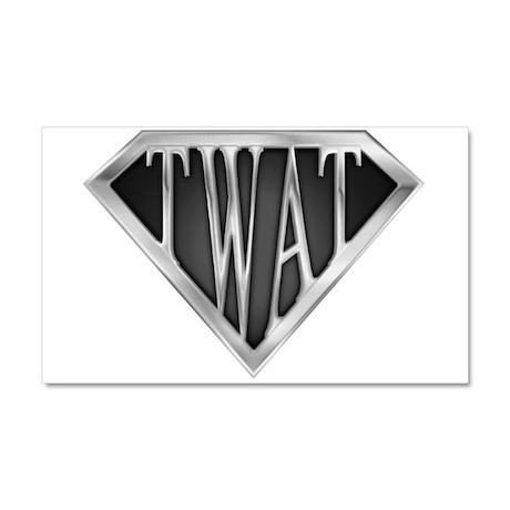 SuperTwat(metal) Car Magnet 20 x 12