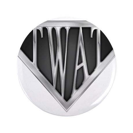 "SuperTwat(metal) 3.5"" Button"