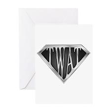 SuperTwat(metal) Greeting Card