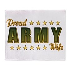Proud Army Wife Throw Blanket