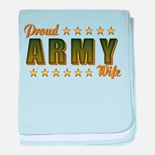 Proud Army Wife baby blanket