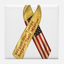 Support Our Troops Tile Coaster