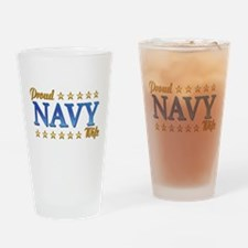 Proud Navy Wife Drinking Glass