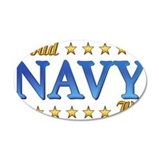 Proud Navy Wife 38.5 x 24.5 Oval Wall Peel