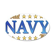 Proud Navy Wife 22x14 Oval Wall Peel