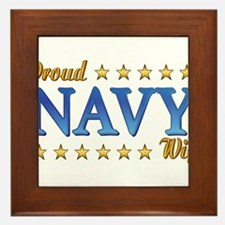 Proud Navy Wife Framed Tile