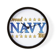 Proud Navy Wife Wall Clock