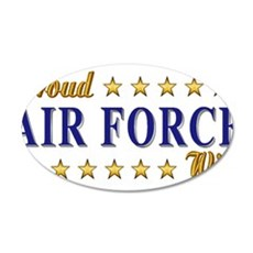 Air Force Wife 22x14 Oval Wall Peel