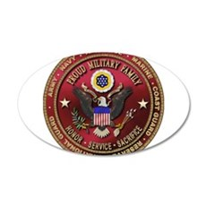 Proud Military Family 22x14 Oval Wall Peel