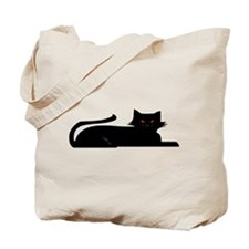 Demon Cat Tote Bag