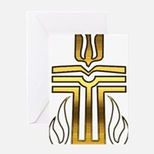 Presbyterian Cross Greeting Card
