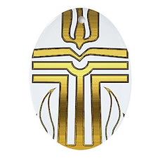 Presbyterian Cross Ornament (Oval)