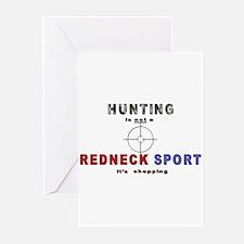 Redneck Hunting Greeting Cards (Pk of 20)