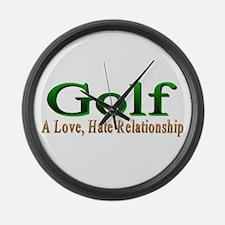 Golf Large Wall Clock