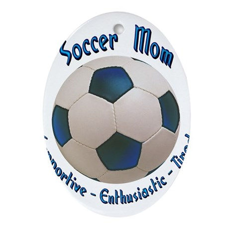 Soccer Mom Ornament (Oval)