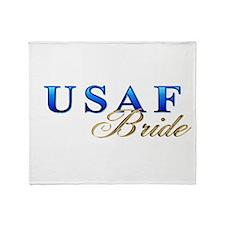 USAF Bride Throw Blanket