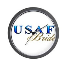 USAF Bride Wall Clock