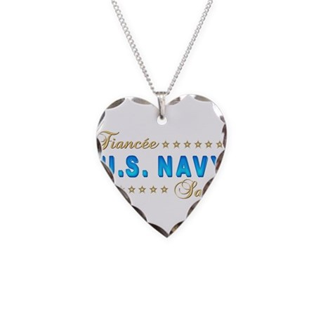 US Navy Fiancee Necklace Heart Charm