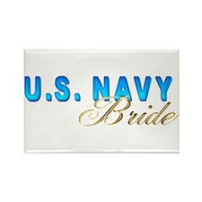Navy Bride Rectangle Magnet (100 pack)