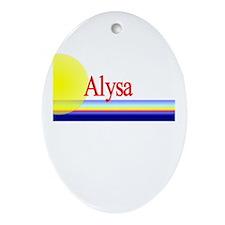 Alysa Oval Ornament