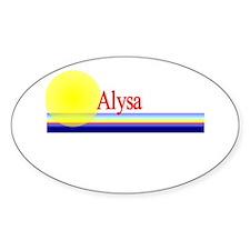 Alysa Oval Decal