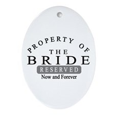 Property Bride Forever Ornament (Oval)