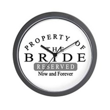 Property Bride Forever Wall Clock