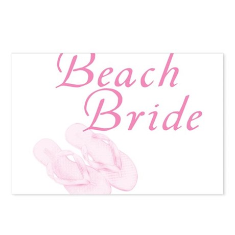 Pink Beach Bride Postcards (Package of 8)