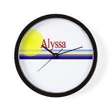 Alyssa Wall Clock