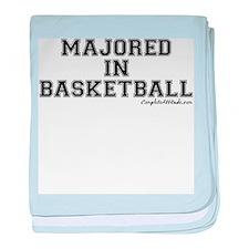 Majored In Basketball baby blanket