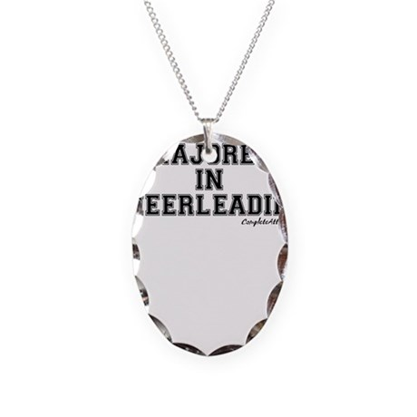 Majored In Cheerleading Necklace Oval Charm