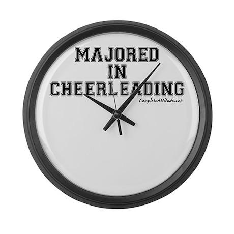 Majored In Cheerleading Large Wall Clock