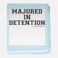 Majored In Detention baby blanket